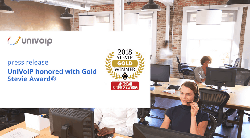 Univoip Honored As Gold Stevie 174 Award Winner In 2018